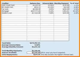 debt reduction calculator 425 best pay off debt i credit cards