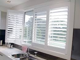 Kitchen Window Shutters Interior Kitchen Plantation Shutter Blinds Strangetowne Cleaning