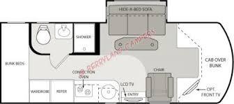 class b rv floor plans citation class b motorhomes model 24sc