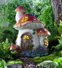solar garden statues miniature garden solar welcome