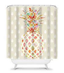 Unique Shower Curtains Pineapple Bathroom Decor Unique Shower Curtain Pineapple