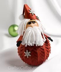 diy paper pinecone santa crafts n coffee