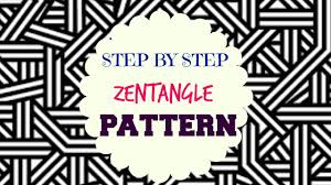how to draw zen tangle patterns step by step tutorial