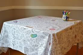 World Map Tablecloth by Amazon Com The Coloring Table Food Fun Tablecloth Home U0026 Kitchen