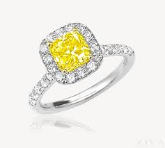 10000 engagement ring yellow square cushion cut diamond ring with halo