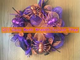 diy halloween deco mesh wreath dollar tree 13 youtube
