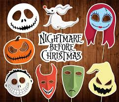 halloween photo booth props printable pdf the nightmare before christmas photo booth props printable