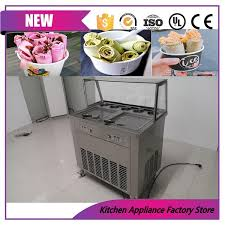 110v 220v separately control cold stone liquid nitrogen roller ice