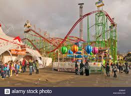 hyde park winter roller coaster rides and a circus