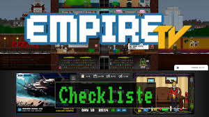 checkliste empire tv tycoon youtube