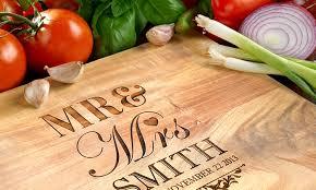 personalised cutting board personalised wood chopping board groupon wooden chopping board