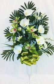 Graveside Flower Vases Artificial Flower Arrangements For Cemeteries
