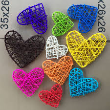 5pcs 10cm new heart rattan for christmas birthday party decor