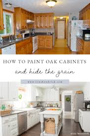 what paint to use on oak cabinets how to paint oak cabinets and hide the grain step by step