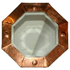 Mirror For Sale Octagonal Art Deco Copper Mirror For Sale At 1stdibs