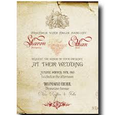 Invitation Cards Size Music Wedding Invitation Vintage Wedding Invitation Rustic