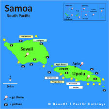 map samoa map of samoa formerly western samoa in the south pacific islands