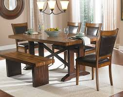 Kitchen Table Sets With Bench Seating Living Room Modern Dining Room Design With Rectangular Brown