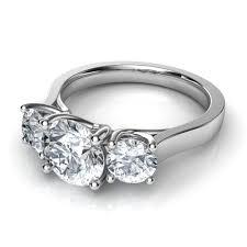 three stone engagement rings three stone diamond engagement rings