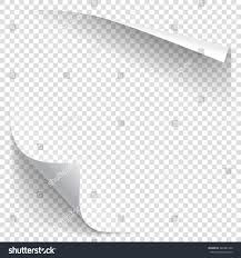 halloween corners transparent background white gradient paper curl shadow isolated stock vector 486381799