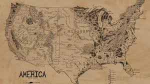 map from lord of the rings a map of the united states in the style of lord of the rings