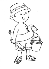 caillou coloring pages with rosie coloringstar