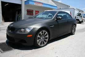 custom black bmw bmw matte black car wrap fort lauderdale florida