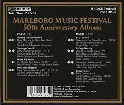 50th anniversary photo album marlboro festival 50th anniversary album bridge 9108a b