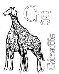 letter giraffe coloring batch coloring