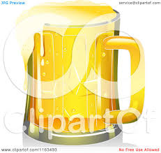 cartoon beer cartoon of a mug of beer royalty free vector clipart by bnp