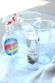 diy mercury glass lamp with krylon