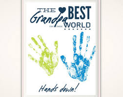 handprint art gift for mother gift from kids gifts for