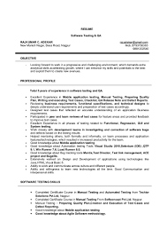 Manual Testing 1 Year Experience Resume Rajkumar A Qa Resume