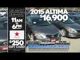 black friday car dealership black friday deals on the 2015 nissan altima at bommarito nissan