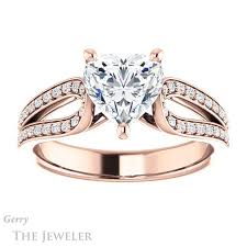 heart shaped rings images Heart shaped forever brilliant moissanite engagement ring gtj1198 jpg