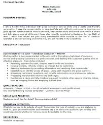 Personal Profile Resume Examples by Checkout Operator Cv Example Forums Learnist Org