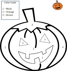 halloween color number coloring pages coloring pages