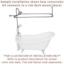 Oil Rubbed Bronze Clawfoot Tub Faucet Oil Rubbed Bronze Clawfoot Tub Shower Conversion Kit With