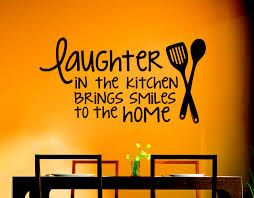 laughter in kitchen brings smiles home wall decals