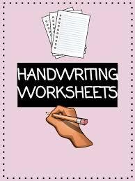 handwriting worksheets kidskonnect