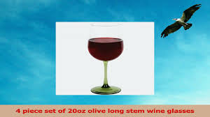 my sanctuary red wine glass set of 4 20oz olive long stem glasses