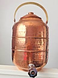 copper 3 6 gal 13 6 ltr water pot dispenser storage tank with tap