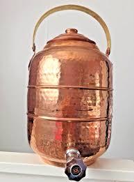 copper water pot dispenser 2 6 gal 9 8 ltr tank w tap faucet
