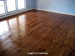 we installed wood floors made from plywood in our living room