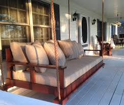 bed swing front porch swing southern tradition