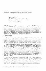 Monster Resume Sample by Resonances In The Planar Elliptic Restricted Problem Springer