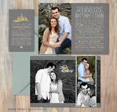 lds wedding invitations wedding announcement jeneze designs