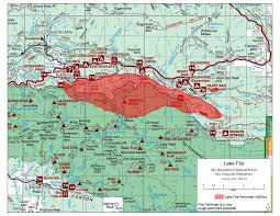 San Gabriel Map 13 000 Acre Lake Fire Continues To Burn Near Big Bear Evacuation