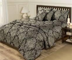 Duvet Quilt Cover New Black U0026 Gold Bed Set Double Duvet Quilt Cover U0026 Bedspread