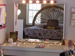 bedroom elegant white makeup vanity set with lights for nice